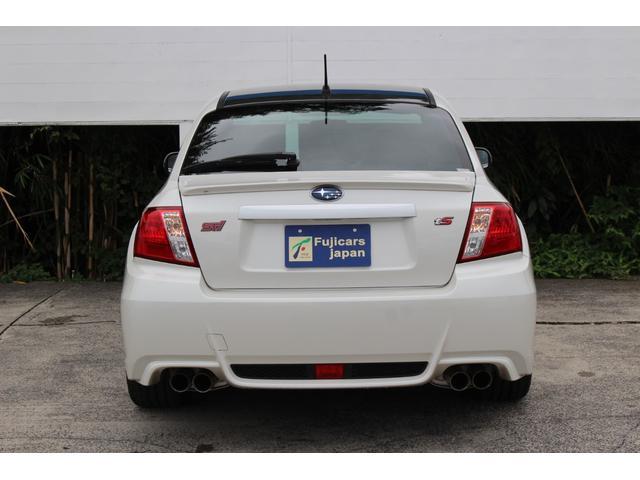 WRX STI tS カーボンルーフ アルミ製フロントフード 400台限定 RAYS18AW 純正レカロシート 社外メモリーナビ フルセグ DVD再生 Bluetooth接続 4WD 308馬力(3枚目)