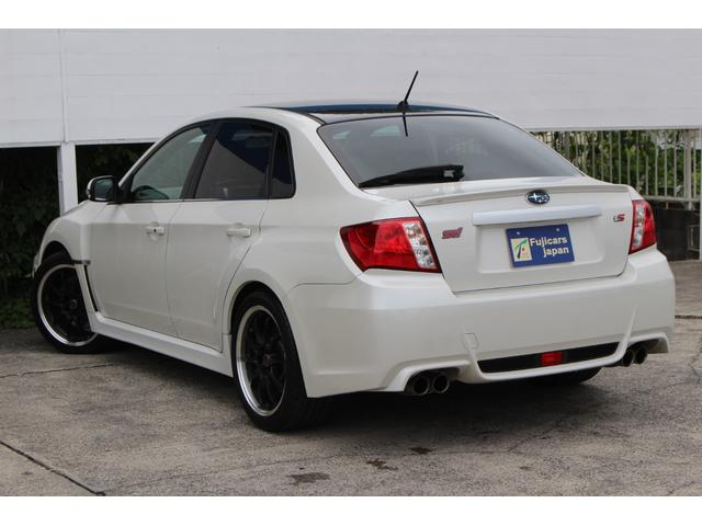 WRX STI tS カーボンルーフ アルミ製フロントフード 400台限定 RAYS18AW 純正レカロシート 社外メモリーナビ フルセグ DVD再生 Bluetooth接続 4WD 308馬力(8枚目)