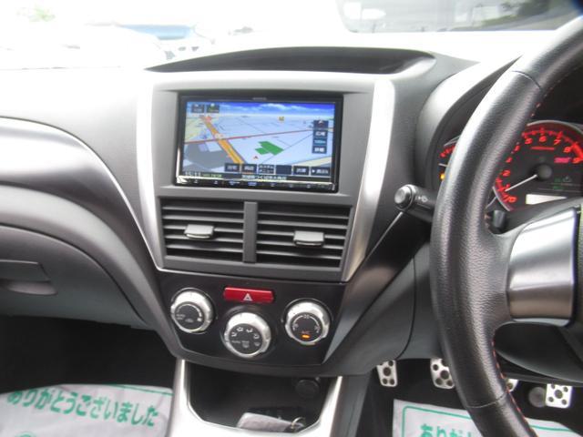 WRX STI tS カーボンルーフ アルミ製フロントフード 400台限定 RAYS18AW 純正レカロシート 社外メモリーナビ フルセグ DVD再生 Bluetooth接続 4WD 308馬力(16枚目)
