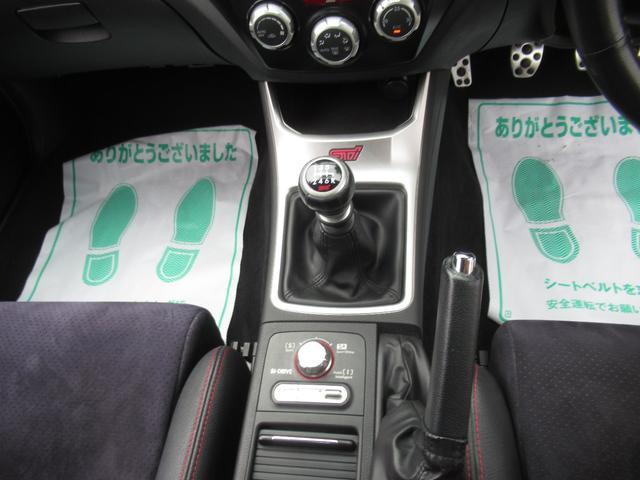 WRX STI tS カーボンルーフ アルミ製フロントフード 400台限定 RAYS18AW 純正レカロシート 社外メモリーナビ フルセグ DVD再生 Bluetooth接続 4WD 308馬力(18枚目)