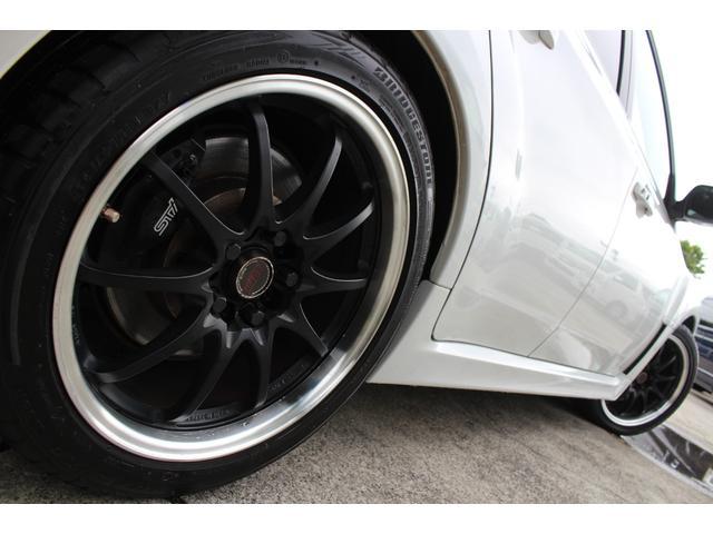 WRX STI tS カーボンルーフ アルミ製フロントフード 400台限定 RAYS18AW 純正レカロシート 社外メモリーナビ フルセグ DVD再生 Bluetooth接続 4WD 308馬力(23枚目)