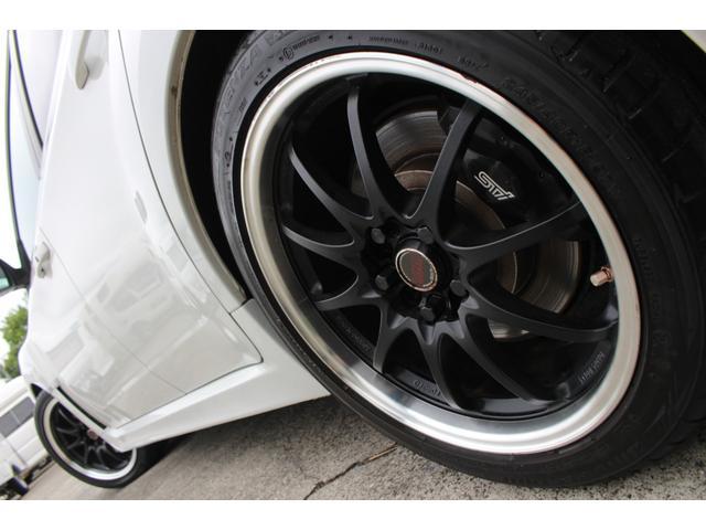 WRX STI tS カーボンルーフ アルミ製フロントフード 400台限定 RAYS18AW 純正レカロシート 社外メモリーナビ フルセグ DVD再生 Bluetooth接続 4WD 308馬力(29枚目)