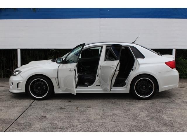 WRX STI tS カーボンルーフ アルミ製フロントフード 400台限定 RAYS18AW 純正レカロシート 社外メモリーナビ フルセグ DVD再生 Bluetooth接続 4WD 308馬力(34枚目)