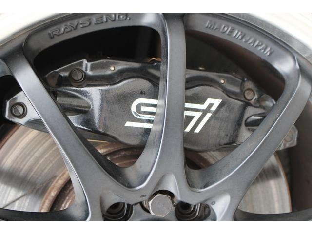 WRX STI tS カーボンルーフ アルミ製フロントフード 400台限定 RAYS18AW 純正レカロシート 社外メモリーナビ フルセグ DVD再生 Bluetooth接続 4WD 308馬力(36枚目)