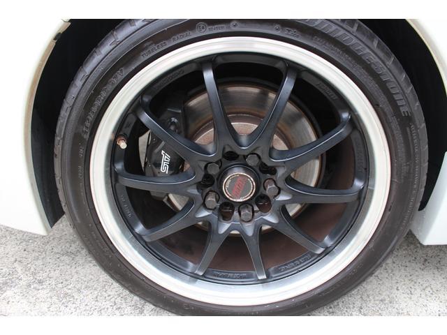 WRX STI tS カーボンルーフ アルミ製フロントフード 400台限定 RAYS18AW 純正レカロシート 社外メモリーナビ フルセグ DVD再生 Bluetooth接続 4WD 308馬力(39枚目)