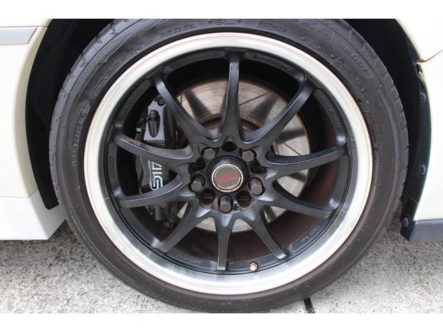 WRX STI tS カーボンルーフ アルミ製フロントフード 400台限定 RAYS18AW 純正レカロシート 社外メモリーナビ フルセグ DVD再生 Bluetooth接続 4WD 308馬力(40枚目)