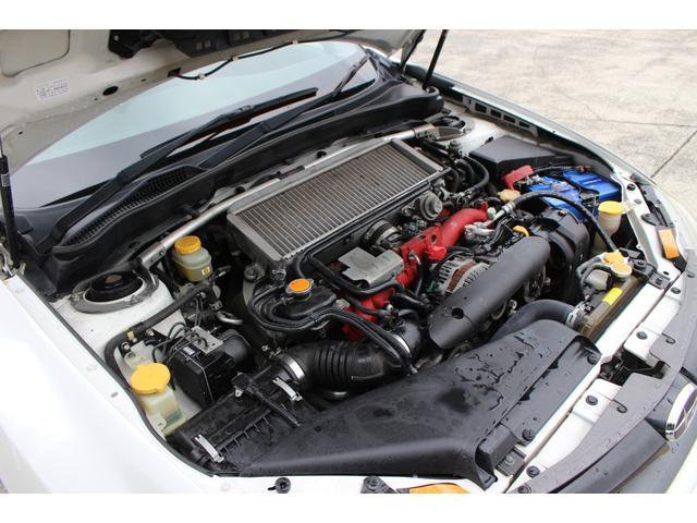 WRX STI tS カーボンルーフ アルミ製フロントフード 400台限定 RAYS18AW 純正レカロシート 社外メモリーナビ フルセグ DVD再生 Bluetooth接続 4WD 308馬力(41枚目)