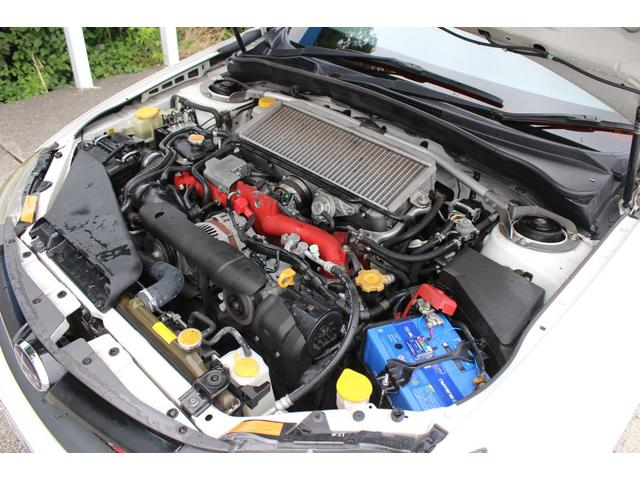 WRX STI tS カーボンルーフ アルミ製フロントフード 400台限定 RAYS18AW 純正レカロシート 社外メモリーナビ フルセグ DVD再生 Bluetooth接続 4WD 308馬力(42枚目)