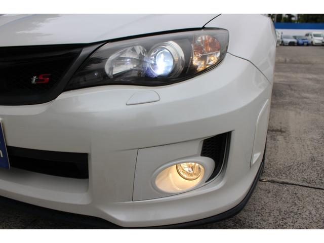 WRX STI tS カーボンルーフ アルミ製フロントフード 400台限定 RAYS18AW 純正レカロシート 社外メモリーナビ フルセグ DVD再生 Bluetooth接続 4WD 308馬力(45枚目)