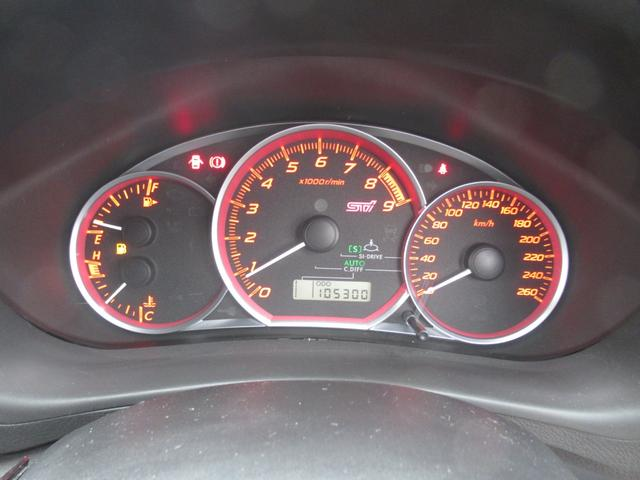 WRX STI tS カーボンルーフ アルミ製フロントフード 400台限定 RAYS18AW 純正レカロシート 社外メモリーナビ フルセグ DVD再生 Bluetooth接続 4WD 308馬力(55枚目)