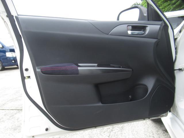 WRX STI tS カーボンルーフ アルミ製フロントフード 400台限定 RAYS18AW 純正レカロシート 社外メモリーナビ フルセグ DVD再生 Bluetooth接続 4WD 308馬力(63枚目)