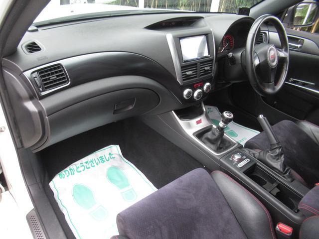 WRX STI tS カーボンルーフ アルミ製フロントフード 400台限定 RAYS18AW 純正レカロシート 社外メモリーナビ フルセグ DVD再生 Bluetooth接続 4WD 308馬力(64枚目)