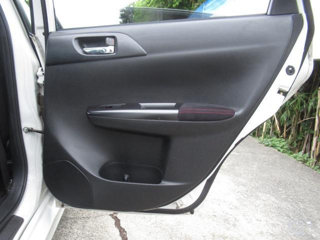WRX STI tS カーボンルーフ アルミ製フロントフード 400台限定 RAYS18AW 純正レカロシート 社外メモリーナビ フルセグ DVD再生 Bluetooth接続 4WD 308馬力(65枚目)