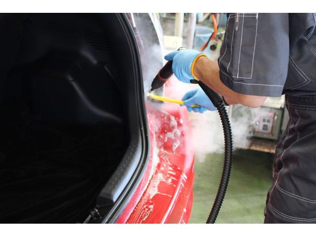 室内洗浄:高圧スチームで洗い流します。