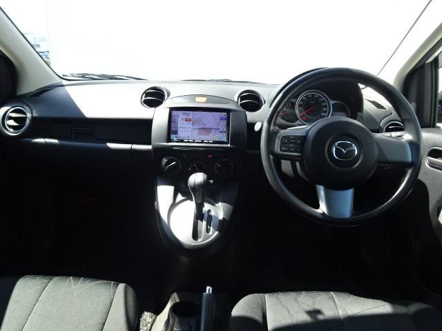 マツダ デミオ 13C-V スマートエディションII SDナビ ワンオーナー