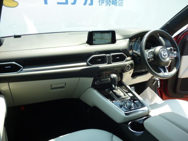 25T Lパッケージ 4WD マツダコネクトナビゲーション 360度ビューカメラ ホワイトレザーシート パワーバックドア LEDヘッドライト運転席助手席シートヒーターシートクーラースマートシティブレーキサポート(4枚目)
