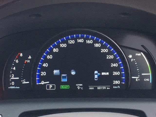レクサス LS LS600h Iパッケージ エアシート 後席ヒーター LED