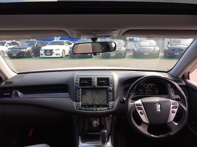 トヨタ クラウン ウッドコンビハンドル ステアリモコン 純正HDDナビ