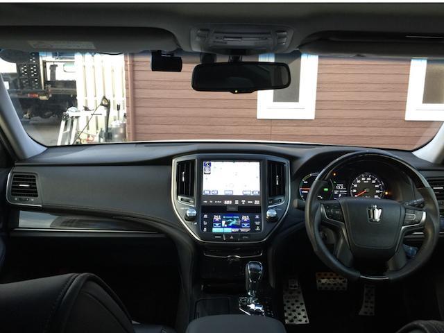 トヨタ クラウンハイブリッド アスリートS 車高調 モデリスタエアロ ドライブレコーダー