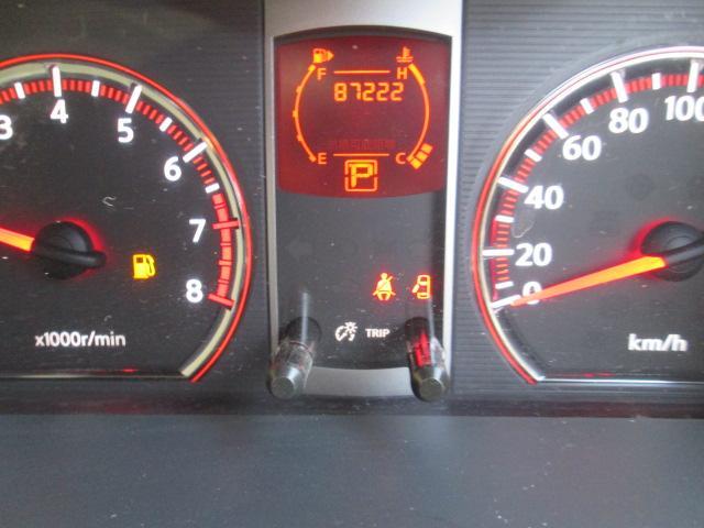 出来るだけ、高年式、低走行のお車の入庫を心がけています!走行8,7万キロ!