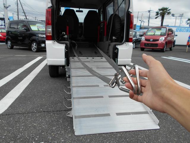 スズキ エブリイワゴン 車いす移動車 補助シート 車いす乗員用手すり付