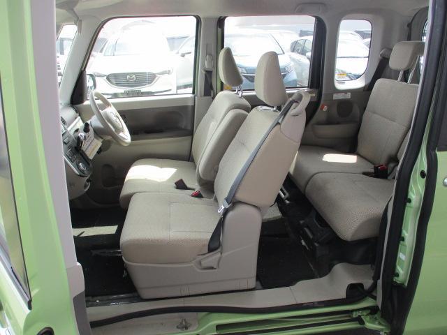 X 4WD パワースライド CDステレオ スマートキー プッシュスタート オートエアコン エコアイドル ETC セキュリティアラーム ロールサンシェード インパネシフト ベンチシート スモークガラス ミラクルオープンドア 助手席ロングスライド(19枚目)