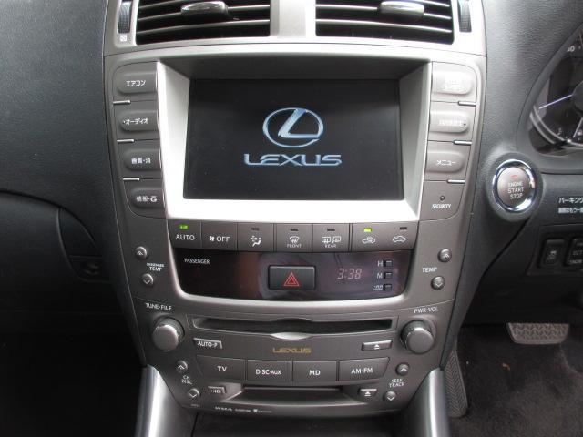 レクサス IS IS250 純HDDナビマルチ スマートキー パドルシフト