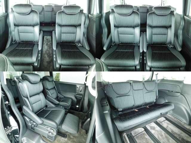 2列目シートは一人ずつゆったり座れる独立タイプのシートで、リクライニングシートを後方にスライドして足元の内蔵式オットマンを使用することで、ソファーに座るようなラグジュアリーな乗り心地を体感できますよ♪