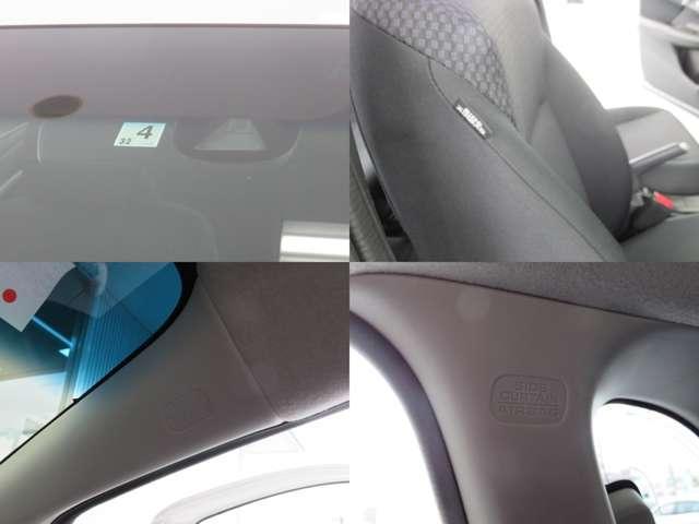 運転席・助手席+サイド・サイドカーテンエアバックに衝突軽減ブレーキ・横滑り防止装もついて安全面も安心できますね♪