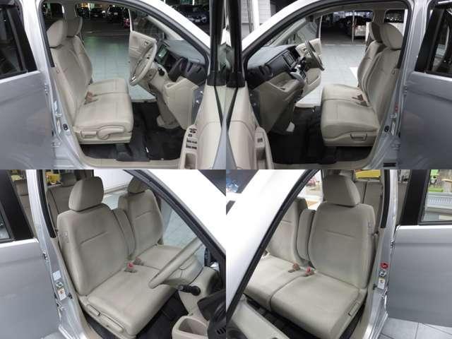 ベンチタイプのフロントシートでゆったりとドライブ、長距離運転も疲れません♪ハイトアジャスターも付いているのでベストポジションを調整できます。