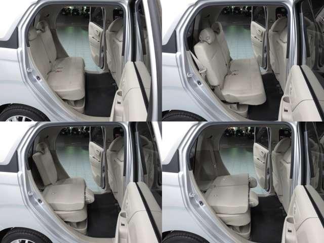 リヤシートを前までスライドしても、ちゃんと人の乗れるスペースを確保して有ります♪