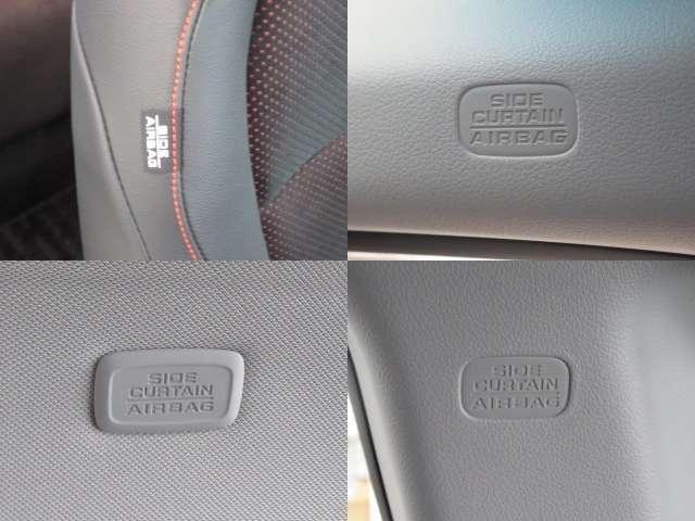 運転席・助手席+サイド・サイドカーテンエアバックに衝突軽減ブレーキ・横滑り防止装置もついて安全面も安心できますね♪