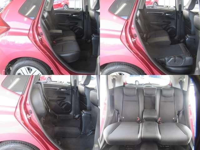 リヤシートの座面部分を上げれば背の高い荷物も倒さずに積めちゃいます♪