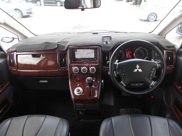 三菱 デリカD:5 シャモニー 4WD メーカーHDDナビ12セグ後席モニター