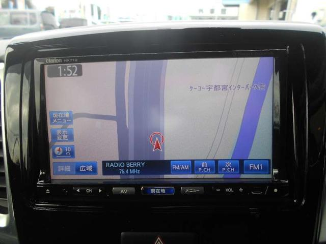 スズキ スペーシアカスタム レーダーブレーキ 社外SDナビ DVD 両側自動スライドドア