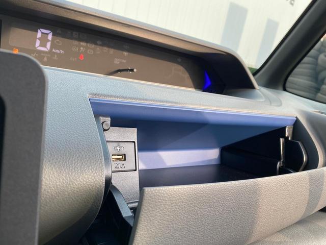 カスタムXセレクション A/C スマートキー プッシュスタート コーナーセンサー 衝突軽減ブレーキ 車線逸脱警告 シートヒーター ハーフレザーシート 両側電動スライドドア LEDヘッドライト 盗難防止装置 新車時保証書(26枚目)