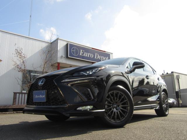 NX300h後期モデルのFスポーツ4WDにメーカー&ディーラーオプション約174万円を装備した充実のハイスペックオプションTRDVer仕様車となる。レクサスセーフティープラスも標準装備となる。