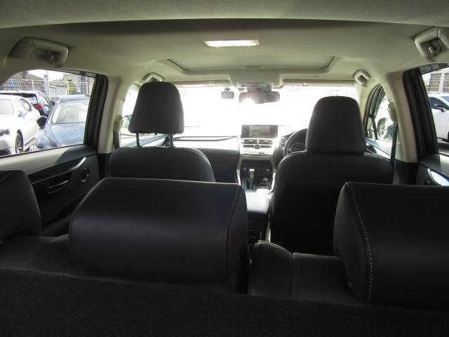 NX300hVerL4WD1オナ黒革SRパノラV モデエアロ 4WD 1オナ黒革SR ナビ地デジ LSS+ パノラミックV BSM PKSB カラーHUD 禁煙車 Dレコーダ エンスタ RCTA AHS 後席電動&H 3眼LED ルーフR 同色アーチ モデエアロ(55枚目)