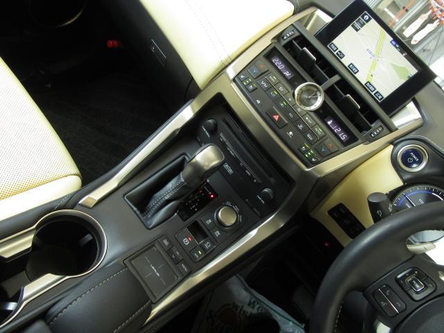 NX300hVerL 白革SRマクレビ 全レーダC TOMS 後期 白革SR 純ナビ地デジ マクレビ 全車速レーダC プリクラ パノラV BSM AHB LDA HUD 禁煙車 TVジャンパ 後席電動 AC100W PBドア 3眼LED トムスエアロ&4本マフラ(16枚目)