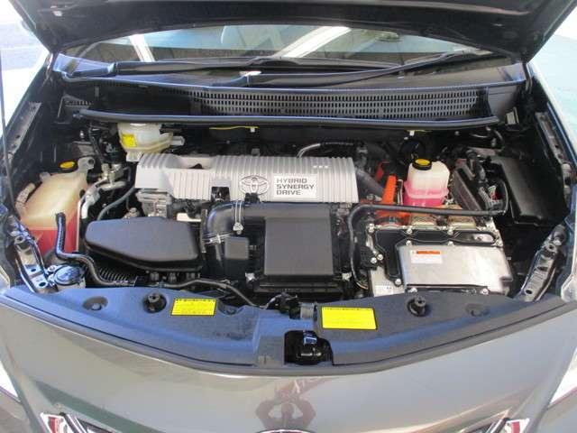 エンジンルームもクリーニング済です・納車前に点検とエンジンオイル交換等、整備致しますので安心してお乗りいただけます