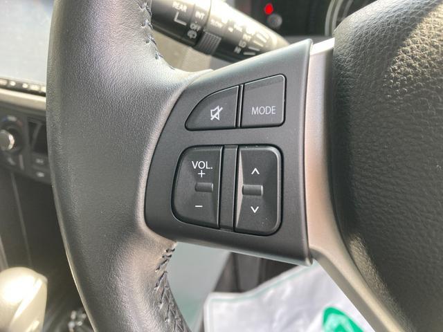 ステアリングリモコンはハンドルから手を離すことなくオーディオ操作が可能です!