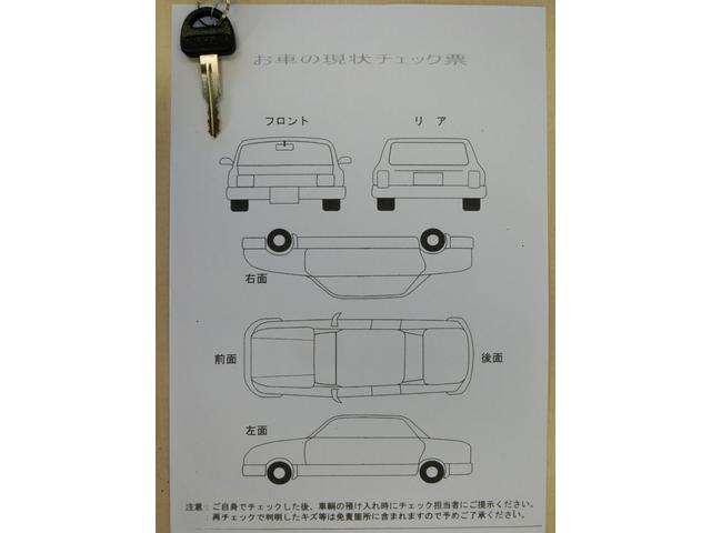 こちらの車両は特に目立つ傷等はございませんでしたのでチェックシートは未記入となっております。