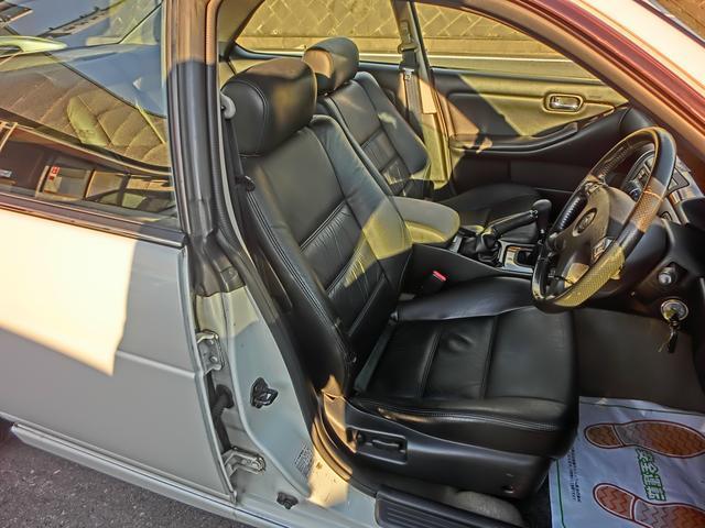 日産 ローレル 25クラブSNEO6ターボ改5速MT車高調 黒革パワーシート