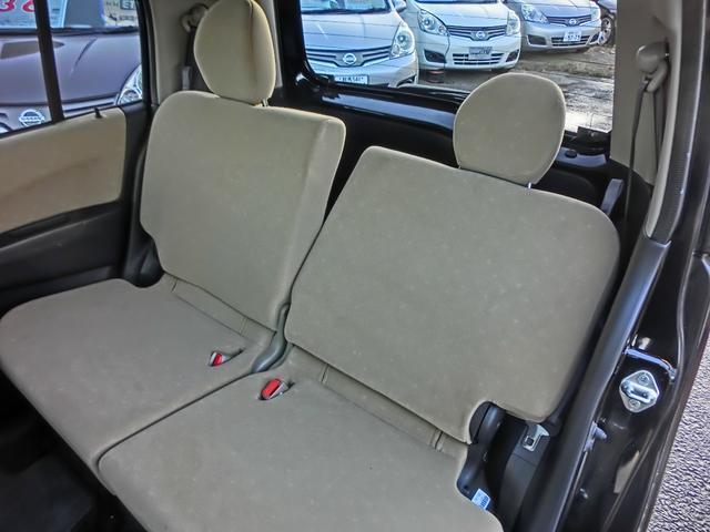 後部座席にもリクライニング機能があり快適!
