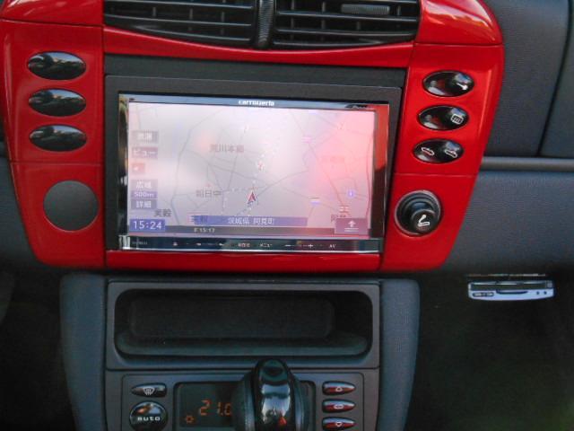 ポルシェ ポルシェ ボクスター左ハンドル赤革シート HDDナビTV