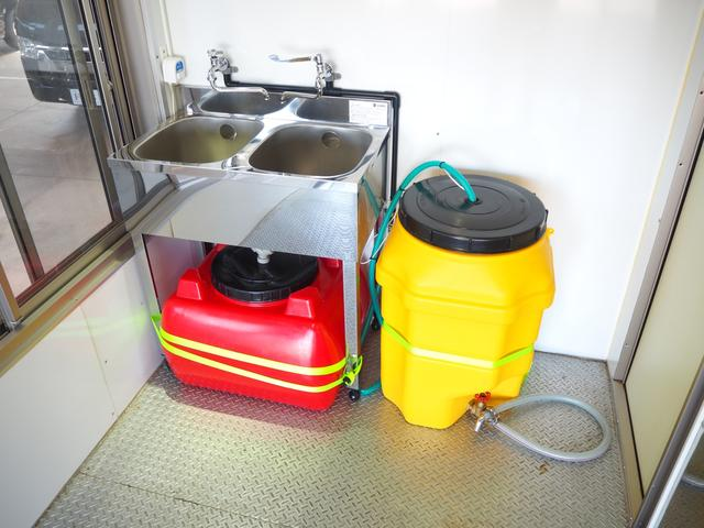シンク2槽装備♪給水タンク120L、排水タンク100L♪