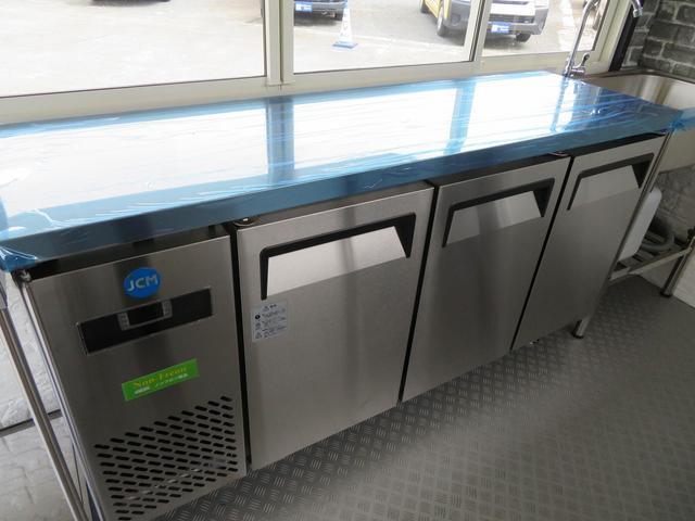 JCM製冷蔵コールドテーブル!3枚開きタイプ!長さ1500x幅450x高さ800!-2℃〜+12℃!