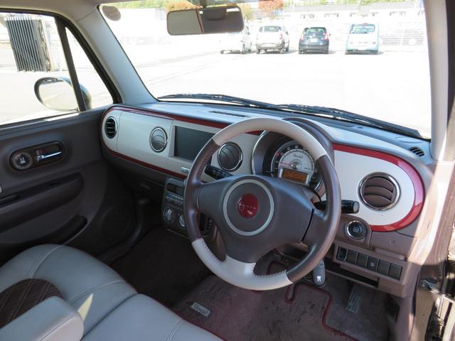 ショコラG アイドリングストップ HIDヘッドライト オートライト キーフリー 車検整備付 14インチ純正アルミホイール ショコラ専用レザーシート(10枚目)