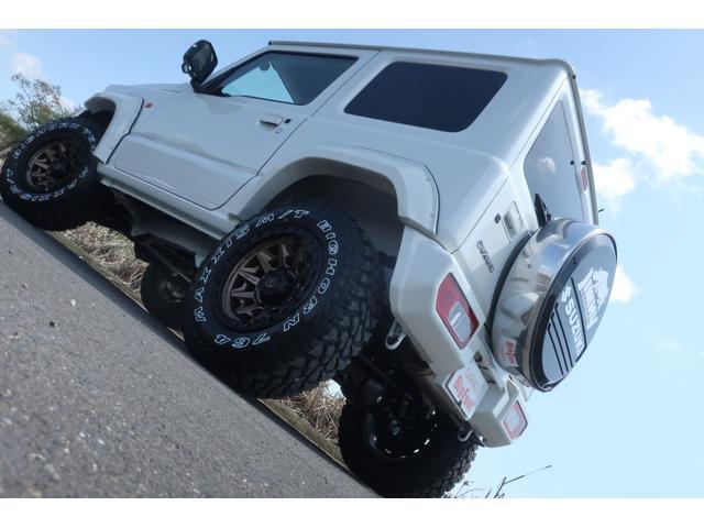 XC 4WD リフトアップ オーバーフェンダー 社外足回り一式 バンパーボディー同色塗装 社外16INアルミ 社外MTタイヤ 社外アンドロイドナビ ETC Bluetooth 背面タイヤハードカバー(6枚目)