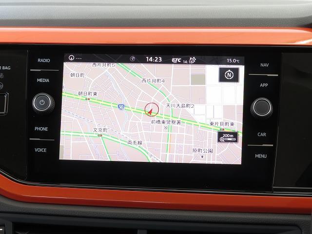 """Volkswagen純正インフォテイメントシステム""""Discover Pro"""":8インチのタッチスクリーン。従来のナビゲーションシステムの域を超える、車両を総合的に管理するインフォテイメントシステムで"""